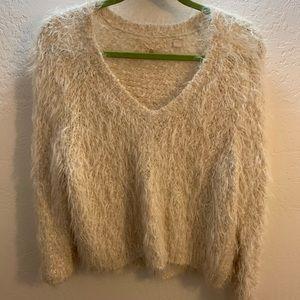 Anthropologie Fuzzy Soft Sweater